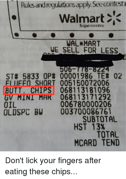 Butt Funny And Wal Mart Rules Regulatons ApplySee Contest Walmart