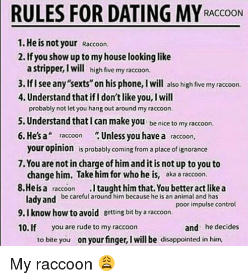 Dating site rules