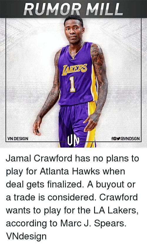RUMOR MILL AKERS UM VN DESIGN Jamal Crawford Has No Plans to Play ... 4777a7916