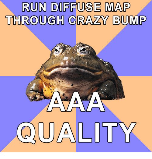 RUN DIFFUSE MAP THROUGH CRAZY BUMP QUALITY | Crazy Meme on ME ME