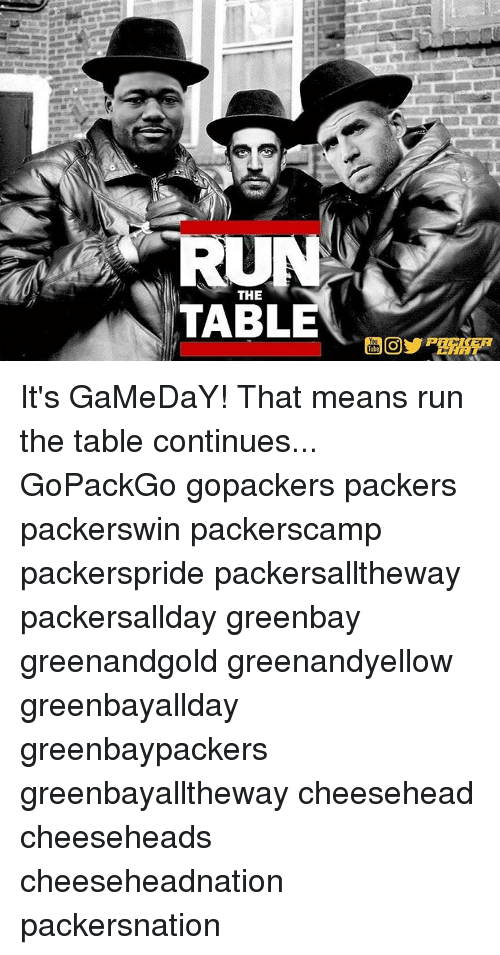 run the table its gameday that means run the table 9780929 ✅ 25 best memes about gopack gopack memes