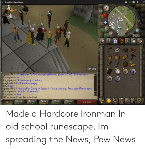 RuneLite - Pew News XP 10 100 100 15 Ranging I2515 6