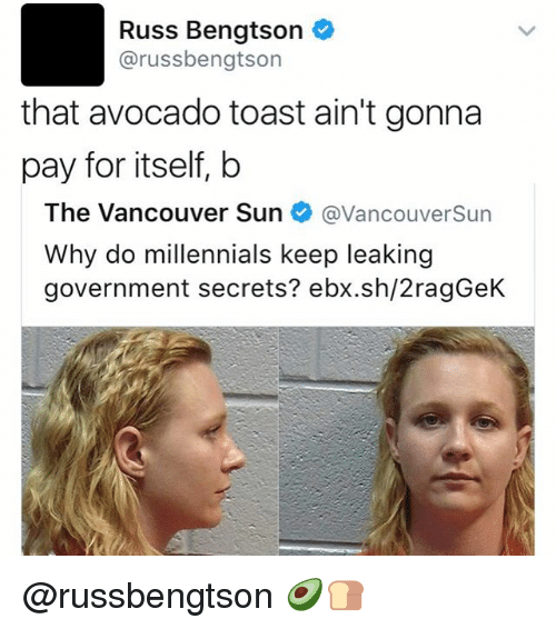 russ bengtson arussbengtson that avocado toast aint gonna pay for 22724316 russ bengtson arussbengtson that avocado toast ain't gonna pay for