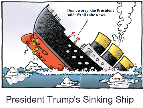 Image result for trump sinking ship meme