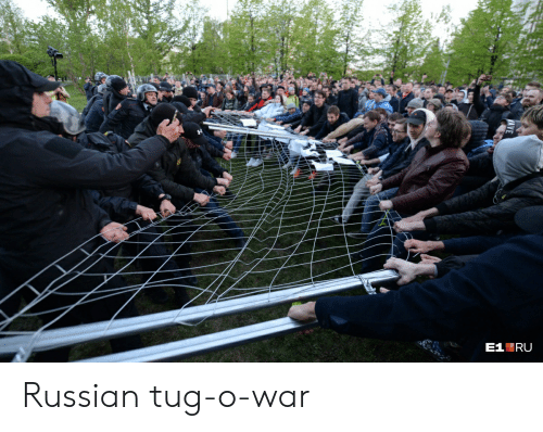 Russian, Tug, and War: Russian tug-o-war