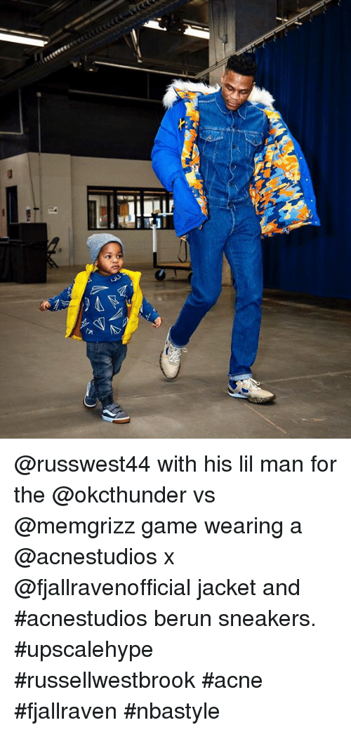 a521af4718d143 With His Lil Man for the vs Game Wearing a X Jacket and  Acnestudios ...