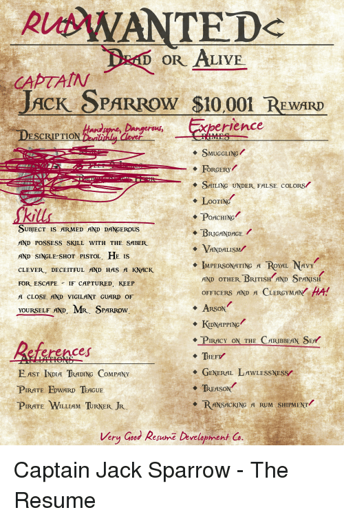 Alive, Funny, And Piracy: Rut?WANTED D OR ALIVE CAPTAIN JACK SPARRow