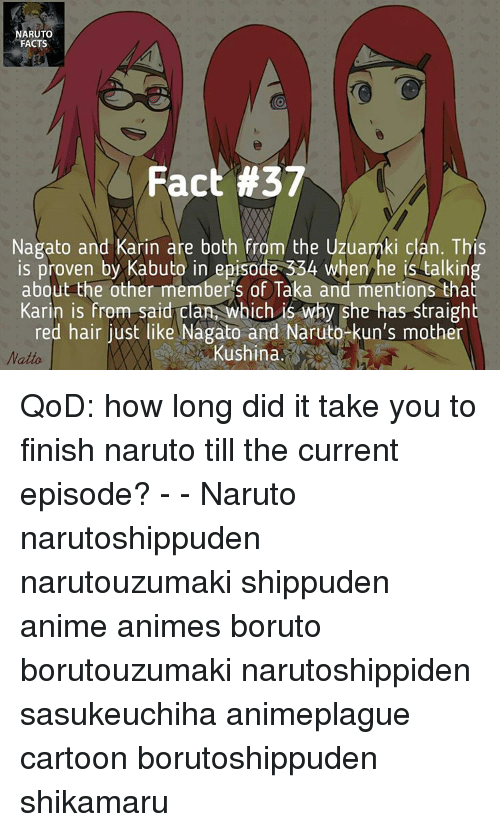RUTO FACTS Fact #37 Nagato and Karin Are Both From the