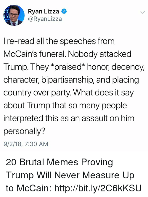 ryan lizza i re read all the speeches from mccain s funeral nobody