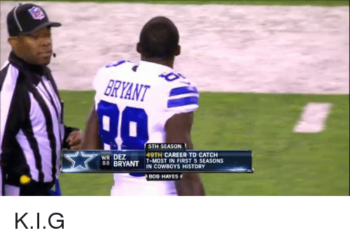 promo code 90518 cbce6 RYANT 5TH SEASON WR DEZ 49TH CAREER TD CATCH WR DEZ49TH T ...