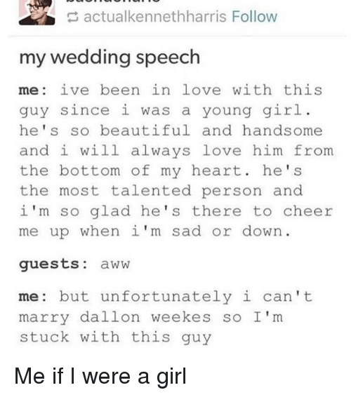Memes Cheerfulness And S Actualkennethharris Follow My Wedding Speech Me Ive Been