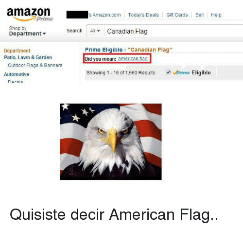 S Amazoncom Today s Deals Gift Cards SHelp Prime Shop by Department -Sarch  AllCanadian Flag Department Patio Lawn   Garden Prime Eligible Canadian  Flag Did ... ade3afd87