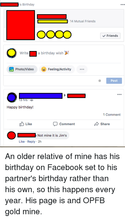 Birthday Facebook And Friends S 14 Mutual OOCO Write