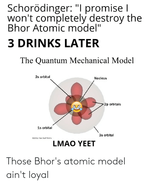 S L Promise I Won't Completely Destroy the Bhor Atomic Model