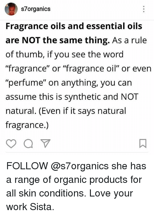 S Organics Fragrance Oils and Essential Oils Are NOT the