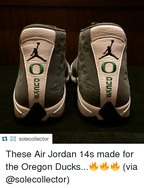 6027929dfbda S Solecollector These Air Jordan 14s Made for the Oregon Ducks ...