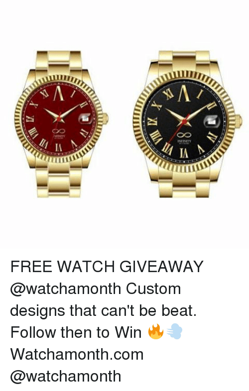 Watch giveaway