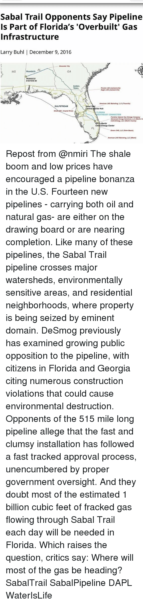 Sabal Trail Opponents Say Pipeline Is Part of Florida's 'Overbuilt