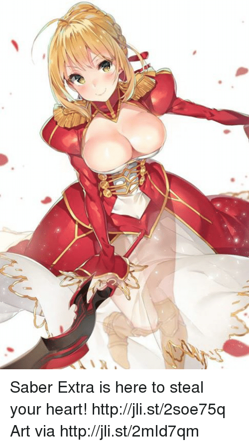 Dank, Heart, and Http: Saber Extra is here to steal your heart! http://jli.st/2soe75q  Art via http://jli.st/2mId7qm