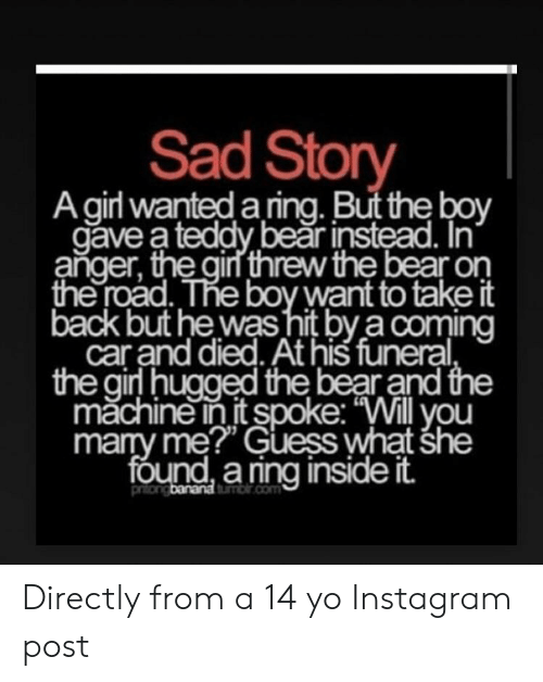 Sad Story a Girl Wanted a Ring but the Boy Gave a Teddy Bear