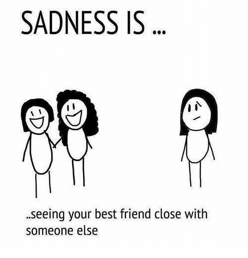 Best Friend, Memes, and Best: SADNESS IS  .seeing your best friend close with  someone else