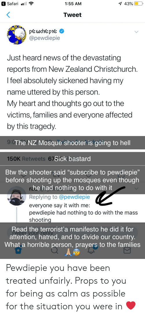 """News, Say It, and Heart: Safari l  1:55 AM  43% 
