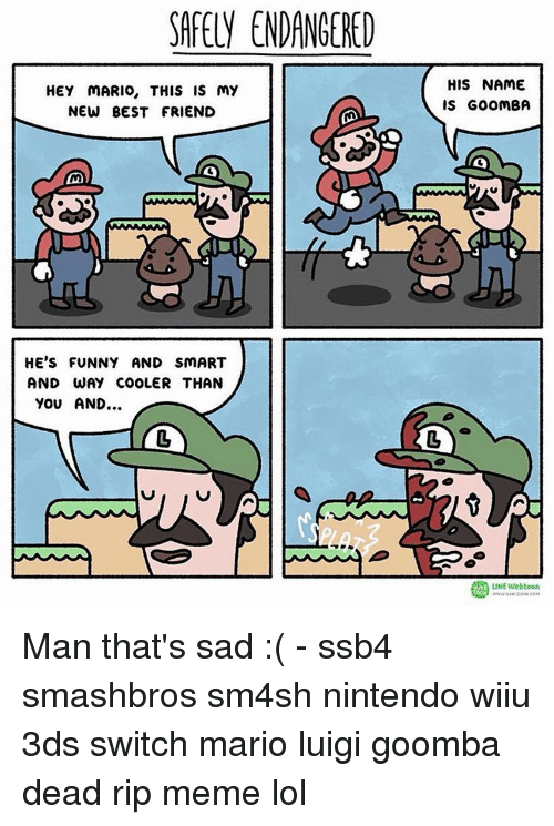 safely endangered hey mario this is my new best friend 13301157 ✅ 25 best memes about i suck at smash bros i suck at smash,Funny Ssb4 Memes