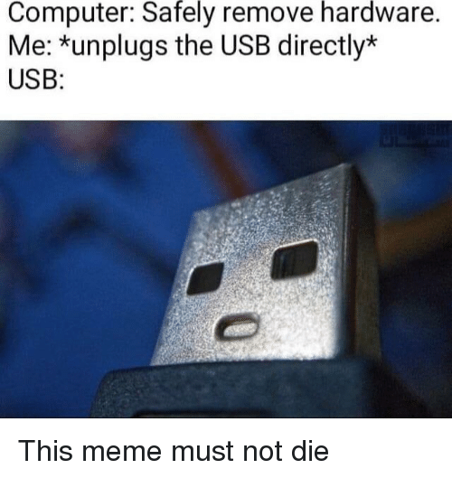 Safely Hardware Computer Remove Me *Unplugs the USB Directly* USB
