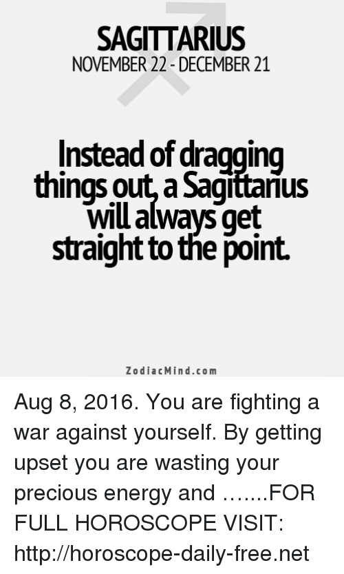 SAGITTARIUS NOVEMBER 22-December 21 Instead of Dragging Things Out a