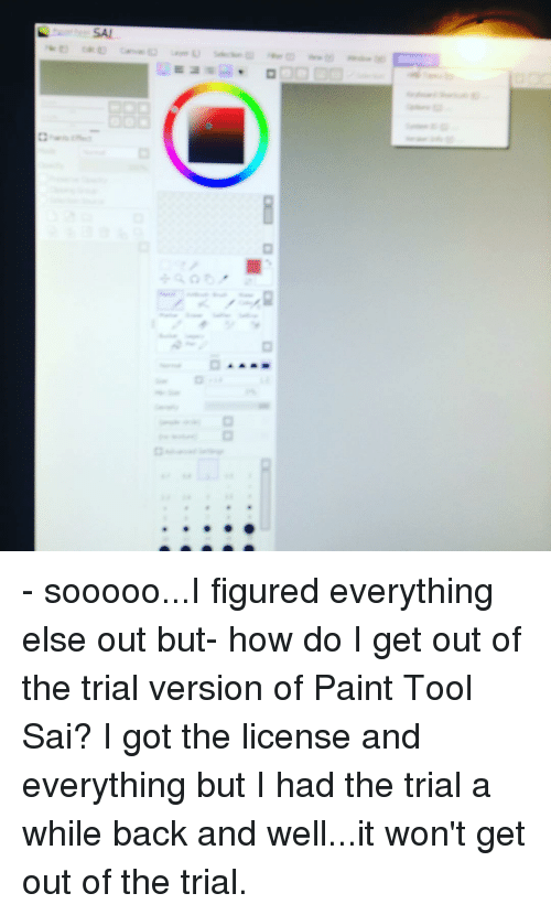 What License Do You Use With Paint Tool Sai