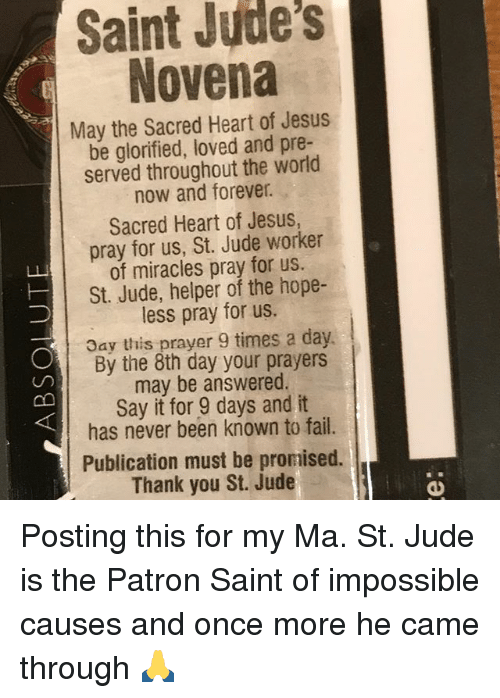 Saint judes novena may the sacred heart of jesus be glorified loved fail jesus and memes saint judes novena may the sacred heart of jesus thecheapjerseys Gallery