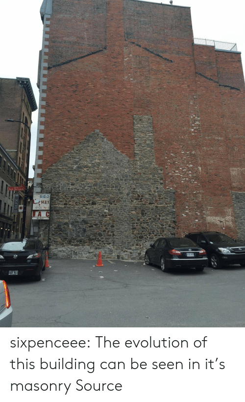 Reddit, Tumblr, and Blog: Saint-Sacrement  MAX  tiIE eR  A  MERC  BJL 28  STN 800 sixpenceee: The evolution of this building can be seen in it's masonry Source
