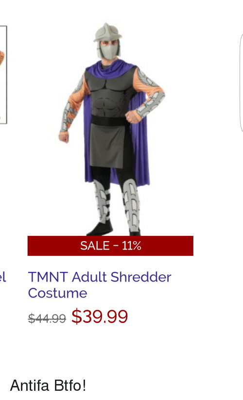 tmnt sales and adult sale 11 l tmnt adult shredder costume 4499