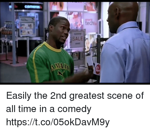 Funny, Time, and Comedy: SALE Easily the 2nd greatest scene of all time in a comedy https://t.co/05okDavM9y