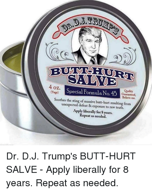 Image result for trump butt hurt