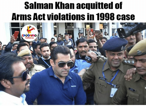 Salman Khan, Indianpeoplefacebook, and Khan: Salman Khan acquitted of  Arms Act violations in 1998 case