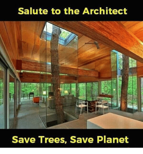Superior Memes, Trees, And 🤖: Salute To The Architect Save Trees, Save Planet