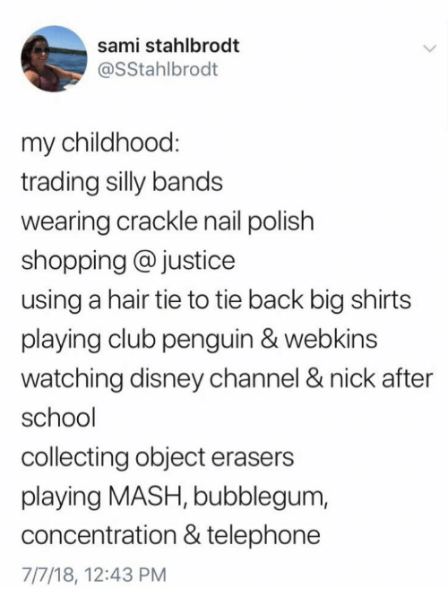 Sami Stahlbrodt My Childhood Trading Silly Bands Wearing Crackle