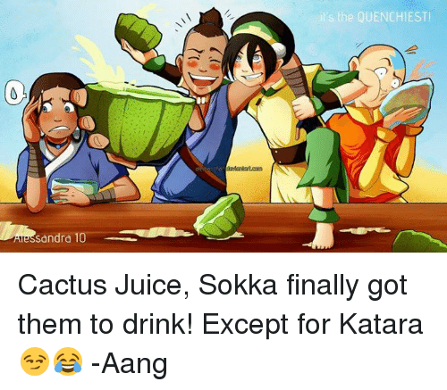 Sokka Drink Cactus Juice Its The Quenchiest