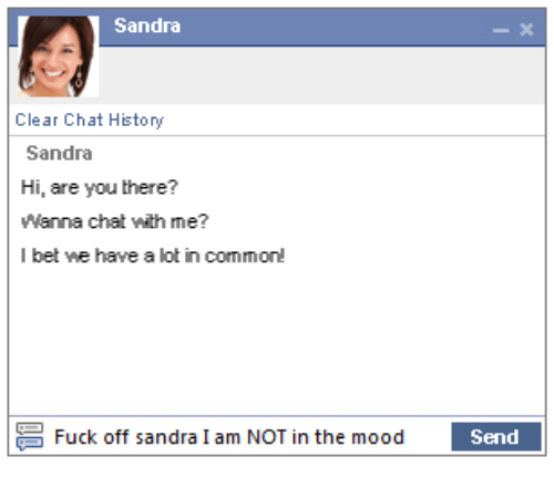 Sandra Clear Chat History Sandra Hi Are You There? Wanna