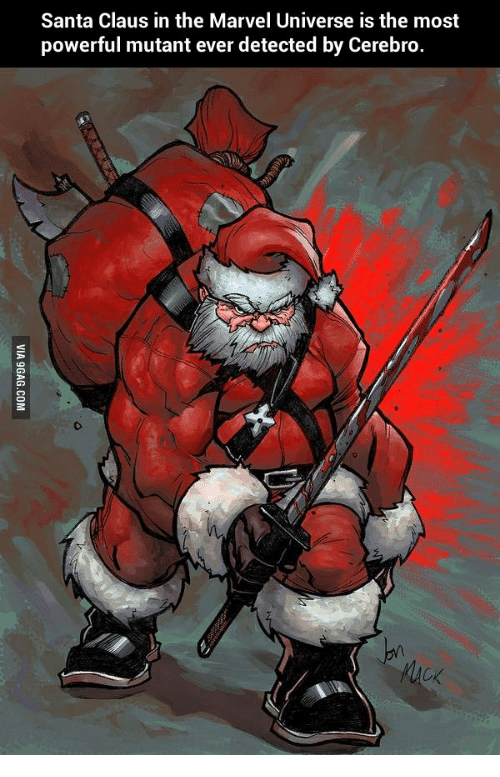 santa claus in the marvel universe is the most powerful mutant ever detected by cerebro