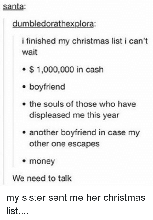 memes santa and boyfriend santa rathexplor i finished my christmas list i can - My Christmas List