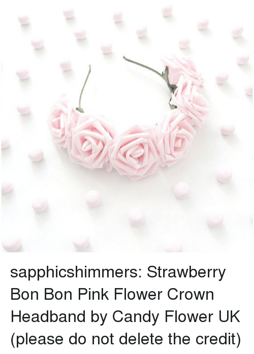 Sapphicshimmers Strawberry Bon Bon Pink Flower Crown Headband by ... d3f7b074a68