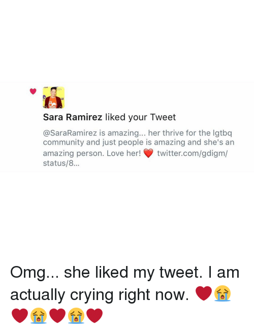 Sara Ramirez Liked Your Tweet Is Amazing Her Thrive for the Lgtbq