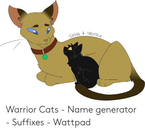 SASHA& TADPOLE Warrior Cats - Name Generator - Suffixes