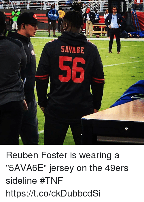 reuben foster jersey for sale