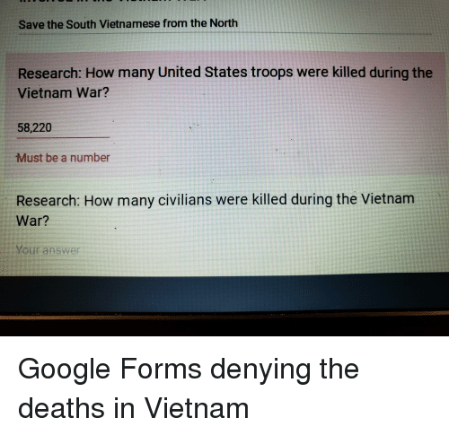 Save the South Vietnamese From the North Research How Many
