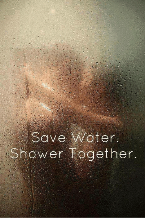 Relationships Shower And Water Save Together