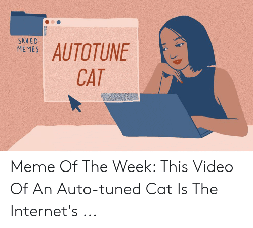 SAVED MEMES AUTOTUNE CAT Meme of the Week This Video of an