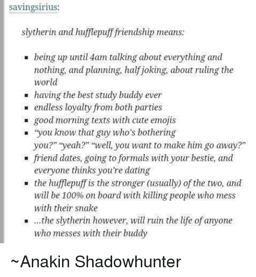 hufflepuff and slytherin relationship tips